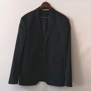 Zara Man NWOT Navy Pinstripe Blazer, Size USA 44